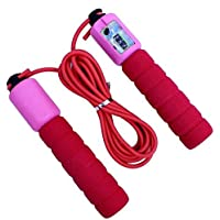 Zeyu Skipping Rope with Counter Anti Slip Rubber Grip & Adjustable Length Skip Jump, Color May Vary