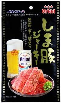 オリオン しまぶたジャーキー 黒胡椒 ビール酵母入り 25g×20袋 オキハム 沖縄県産豚肉100%使用 黒コショウがきいてピリッとした旨みのある大人のジャーキー おつまみやお土産におすすめの珍味