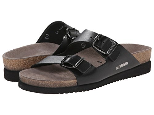 Mephisto Women's Harmony Sandal, Black Waxy, 7 M US