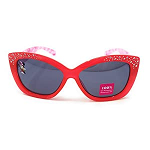 Disney Store Girl's Minnie Mouse Clubhouse Sunglasses in Red and Pink with Studs