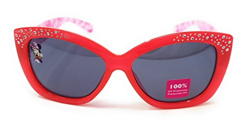 Disney Store Girl's Minnie Mouse Clubhouse Sunglasses in Red and Pink with - Sunglasses Club In The