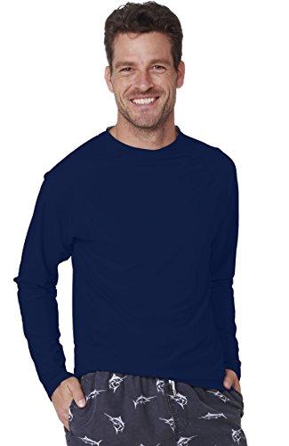 Long Sleeve Rashguard Swim Tee Surfing UPF 50+ Swim Shirt Beachwear Relaxed Fit (Large, - Sale Training Swimwear