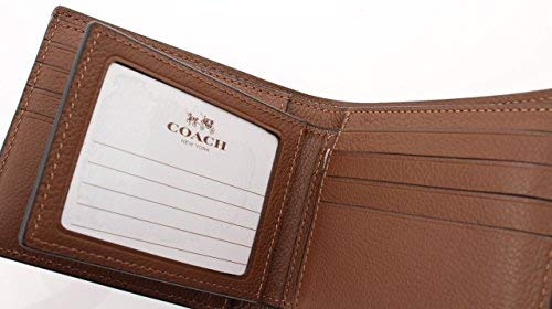 a9ad3e586651 Coach Compact ID Wallet in Sport Calf Leather (Dark Saddle) - F74991 ...