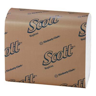 Scott 98710 Tall-Fold Dispenser Napkins, 1-Ply, 7 x 13 1/2, White, 250 per Pack (Case of 40 Packs)