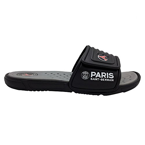 Funkymonkey Men's Fashion Slide Sandals Adjustable Slipper (11 D(M) US/EU 44, Black Grey)