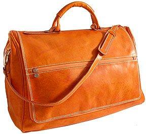 Floto Taormina Duffle in Orange - Leather Bag, Luggage, Weekender by Floto
