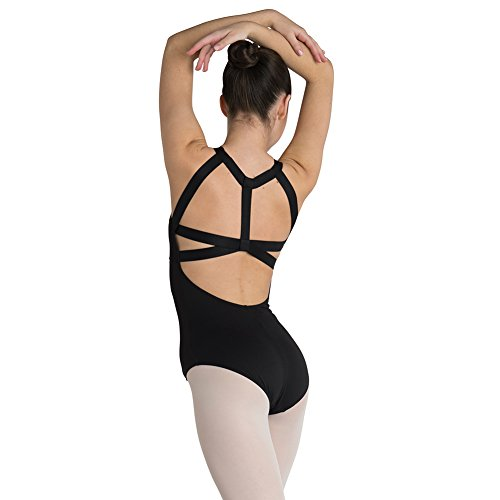 DanzNMotion Womens Lycra Harness Back Leotard (Medium Adult)