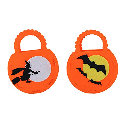 [ASeir Halloween DIY Pumpkin Candy Bag Kids Holiday Handbag (Orange)] (Nerd Costume Diy Girl)
