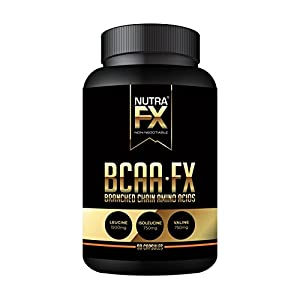 NUTRAFX BCAA FX Branched Chain Amino Acid 2:1:1 Ratio Muscle Building Recovery Capsules