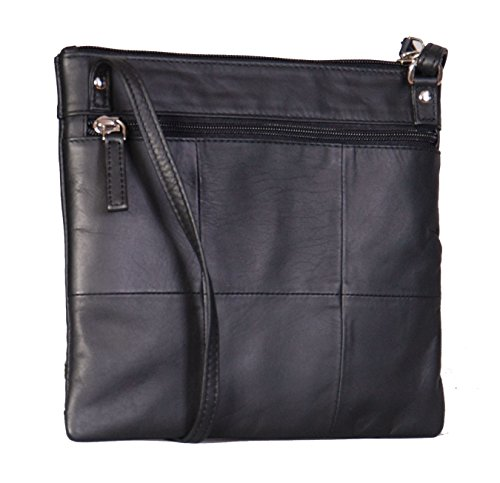 Bag Bag Cross Pockets Womens Casual Travel A08 Multi Assorted Colours Body Black Sling Leather Slim Shoulder xUxqan