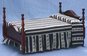 (Dollhouse Miniature Colonial Mahogany Double)