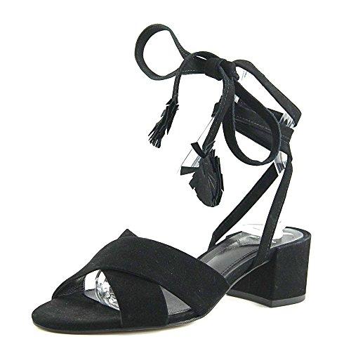 B Brian Atwood Astor Nubuck- Sandal, Blå Sort Nubuck-