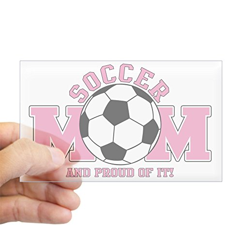 CafePress - Proud Soccer Mom Sticker (Rectangle) - Rectangle Bumper Sticker Car Decal