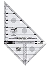 Creative Grids Quilting Ruler Multi-Size 45 Degree / 90 Degree Triangle