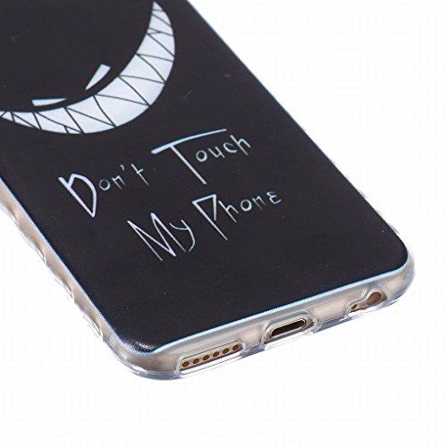 Pour iphone 6 Plus / 6S Plus (5.5inch) Coque Etui, Ougger Personnalit¨¦ Cool Soft Mince TPU Caoutchouc Silicone Transparent Protecteur Bumper l¨¦ger Skin Housse