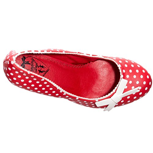 Banned One Pour Size Ballerines Femme Rouge Rot rqSWrg1wUn