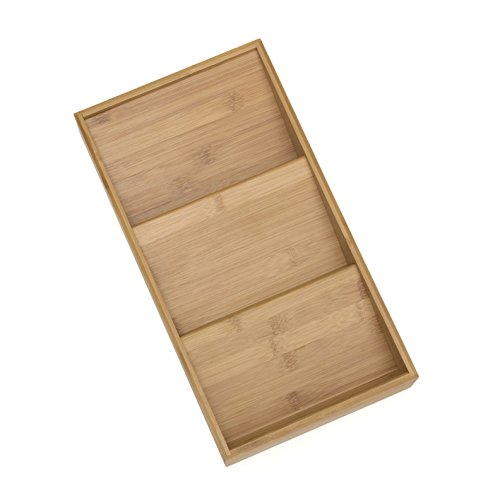 Lipper International 8886 Bamboo Wood In-Drawer Spice Organizer Tray, 15