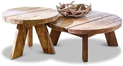 Beste Plaats Loberon salontafel set van 2 Oteley, gerecycled grenenhout, antiekbruin  9wjXZe8