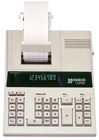 Monroe 122PDX Medium-Duty 12-Digit Print/Display Calculator (Calculator) by Monroe Systems for Business