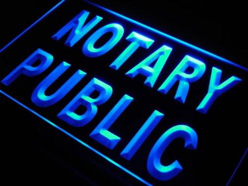Adv Pro S200 B Notary Public Sevice Office New Neon Light