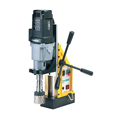 "G&J Hall Tools PB700/2 Powerbor Electromagnetic Drill Press, 3"" Cutting Capacity, 110V, 4-1/4"" Width x 17-1/2"" Height x 13"" Depth"