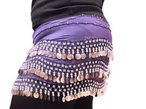 Purple Plus Size Coin Wrap BS012