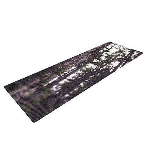 Kess eigene Leah Flores Woods Yoga Matte, Wald, 72 x 24