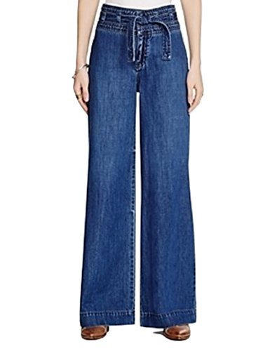 Flare Dark Wash - Free People Womens Augusta High-Rise Dark Wash Flare Jeans Blue 27