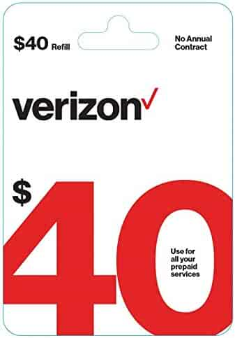 $40 Verizon Wireless Prepaid Refill Top up PIN Card (E-Mail Delivery Fast)!!