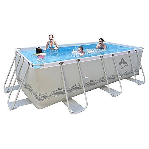 Jilong-6920388626439-Stahlrahmenbecken-Set-rechteckiger-Pool-mit-Kartuschen-Filterpumpe-und-Leiter-400-x-200-x-99-cm-passaat-grau