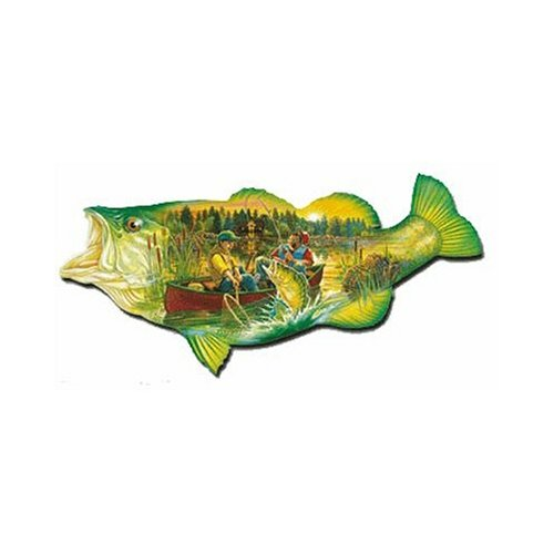FX Schmidt Sportsman's Fish Shaped 1000 Piece Jigsaw Puzzle