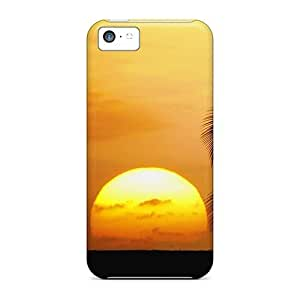 Faddish Phone Sun Between The Palm Trees Case For Iphone 5c / Perfect Case Cover