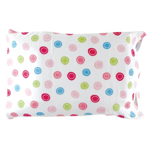 (Luvable Friends Infant Pillow Case, Traditional Pink Print)