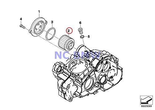 BMW Genuine Motorcycle Oil Filter Oil Filter Insert F650 F650ST F650CS G650 Xchallenge G650 Xcountry G650 Xmoto F650GS F650GS Dakar G650GS G650GS Sertao (Bmw Motorcycle Oil Filter)