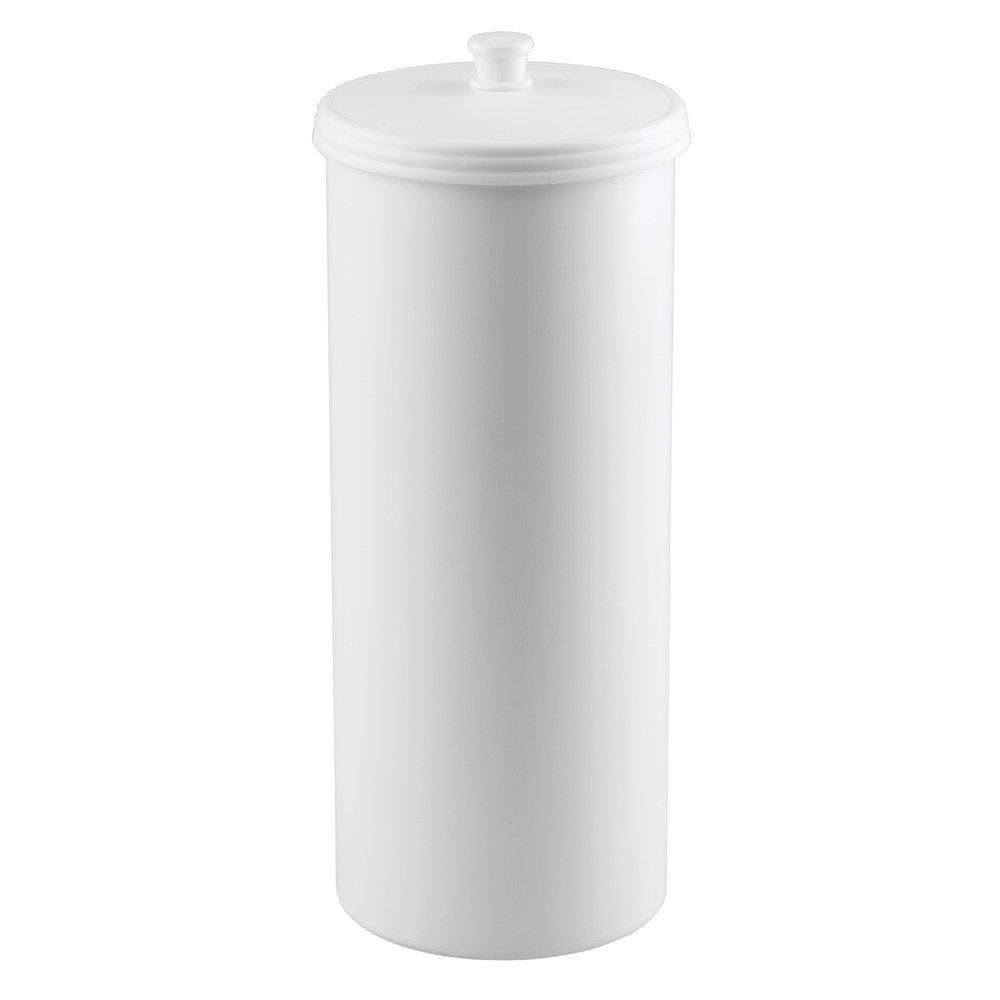 interdesign kent free standing toilet paper roll holder for  - interdesign kent free standing toilet paper roll holder for bathroomstorage plastic white piece amazoncouk kitchen  home