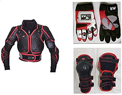 Childrens Kids Motorbike Safety Protective Body Armour Protection With Back Protector Great For Sporting Activities With Knee pad /& Hard Knuckle Glove Suit Black, 2XL//3XL - 8-10 YEARS OLD
