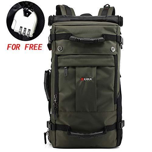 KAKA Travel Backpack,Carry-On Bag Water Resistant Flight Approved Weekender Duffle Backpack Rucksack Daypack for Men Women (Black)