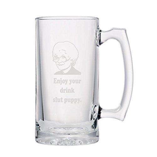 Sophia Petrillo - Enjoy Your Drink - Etched Large 28oz. Beer Stein Mug