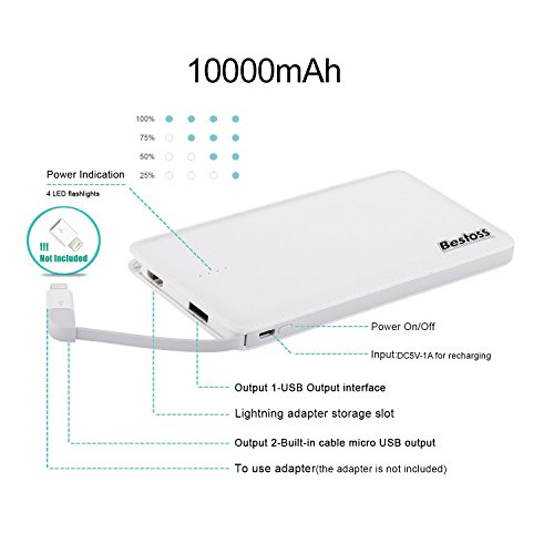 Bestoss 10000mah portable charger power bank external for General motors criminal background check