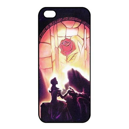 iPhone 5C Thin Protective Case, iPhone 5C Dust Proof Lightweight Cases DIY Beauty And The Beast Disney Movie