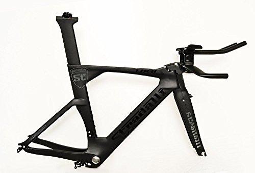 Stradalli Black TT Full Carbon Time Trial Triathlon TTR-8 Bike Frameset-Stradalli-48cm