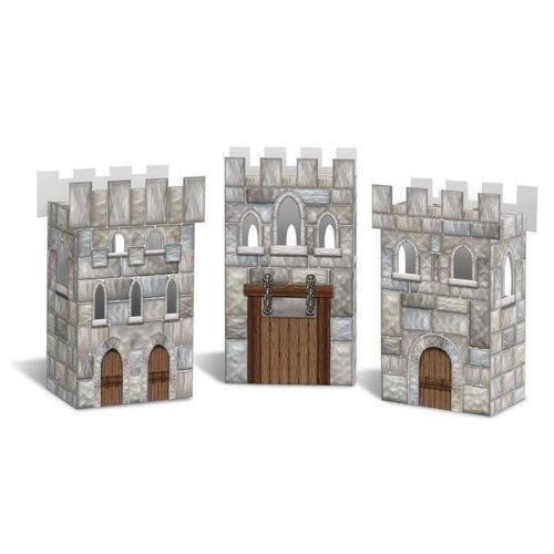 Beistle 54138 Castle Favor Boxes - Case of 12
