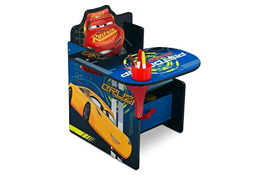 Delta Children Chair Desk with Storage Bin, Disney/Pixar Cars