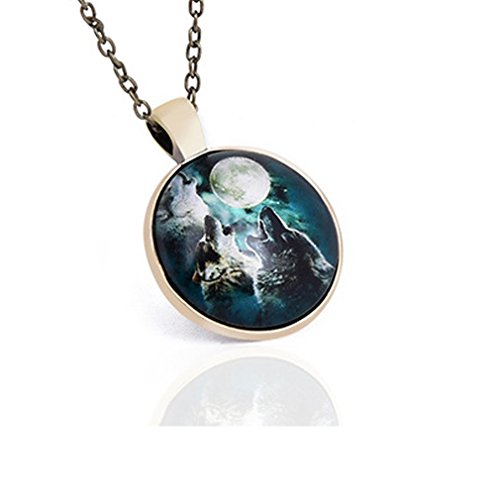 Modern Dance Costumes For Kids Uk (G&T Time Gemstone Pendant Retro Wolf Mechanical Gear the Tree of Life Pendant Necklace(C3))