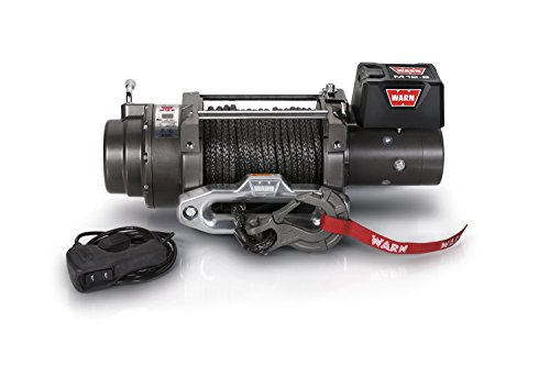 "WARN 97720 M12-S Electric 12V Heavyweight Winch with Spydura Synthetic Cable Rope: 3/8"" Diameter x 100"
