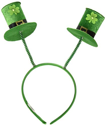 Amscan 310132 St. Patrick's Day Top Hat Headbopper Party Supplies, 10 1/4 x 10 inches, Green and Black -