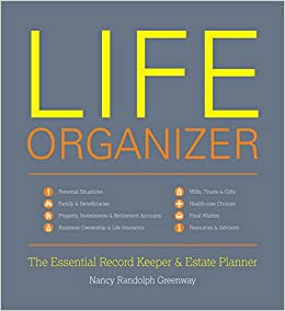 life organizer the essential record keeper estate planner nancy