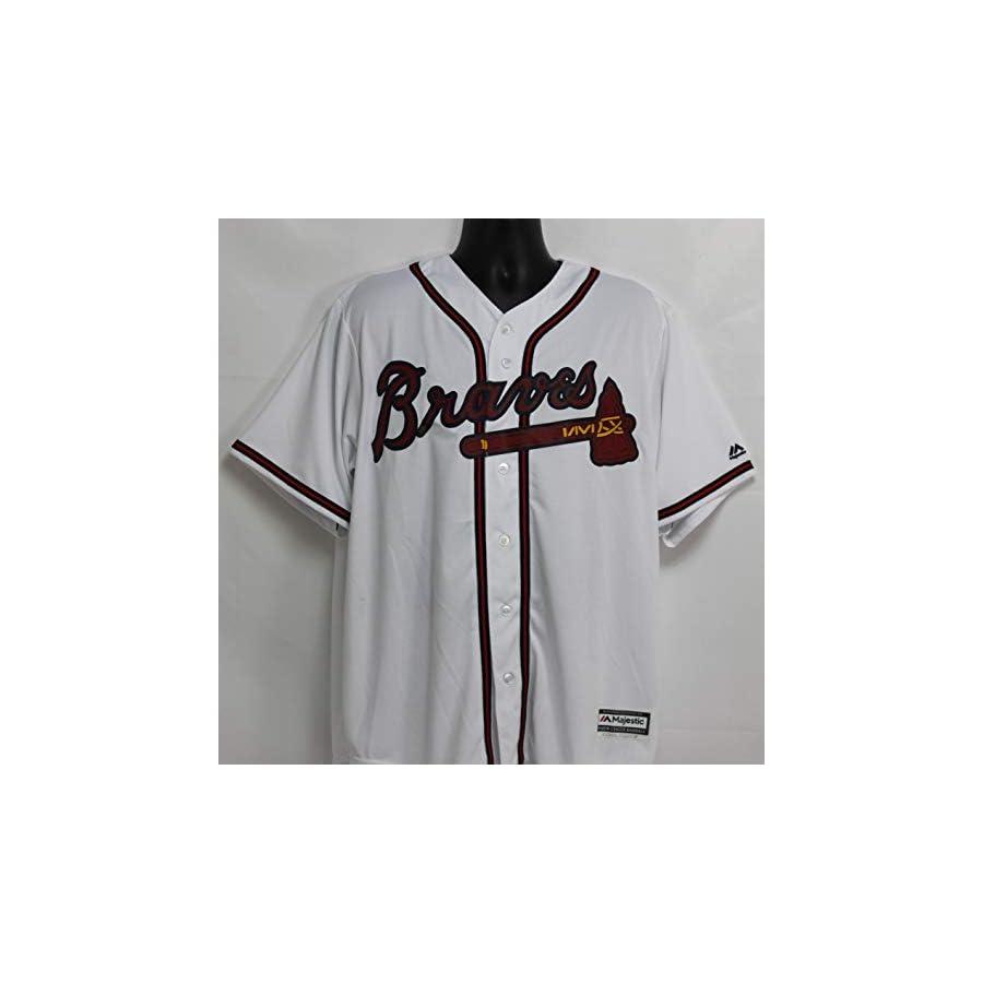 Hank Aaron Autographed Atlanta Braves White Majestic Jersey w/JSA COA