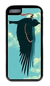 Soar Custom Personalized Design DIY Back Case for iPhone 5C TPU Black