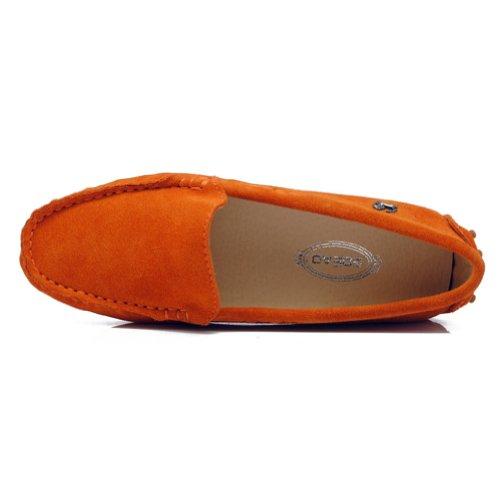 Tda Donna Confortevole Guida Walking Trail Scarpe Da Barca Da Passeggio Mocassini Slip-on Orange